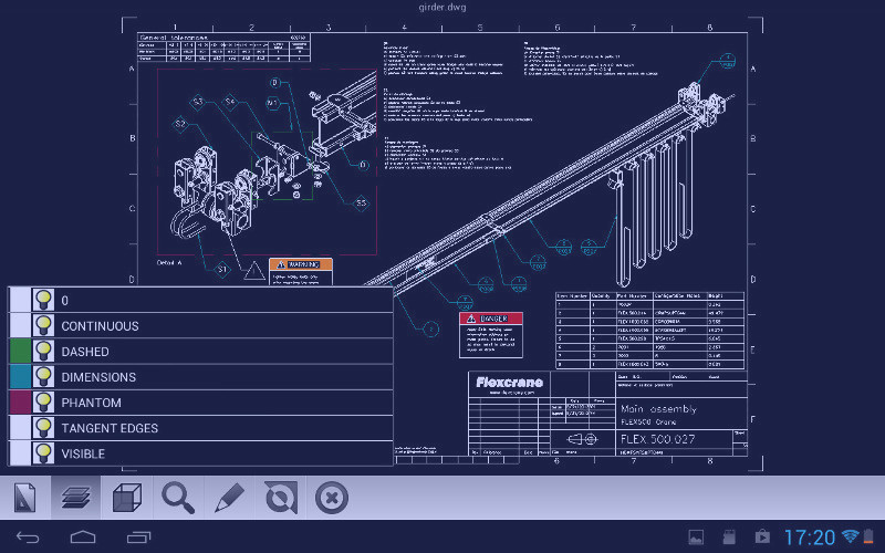 Etoolbox free compatible mobile cad viewer for dwg for Mobel cad programm