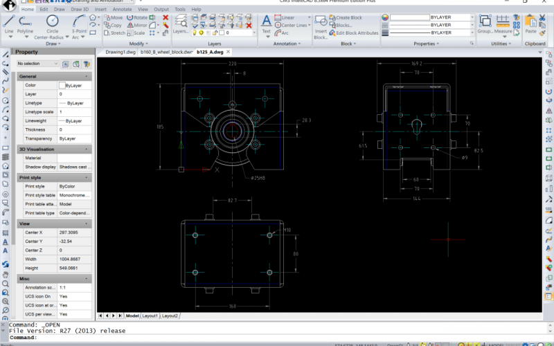 Quick overview of some new compatible CMS IntelliCAD 8.3 cad features.
