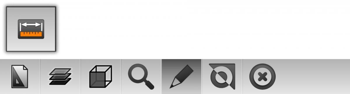 2D dimension toolbar